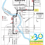 2013 Memorial Sunburst 5K run route.